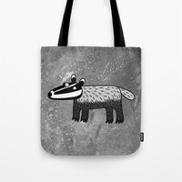 badger Tote Bags featuring Badger by Nic Squirrell