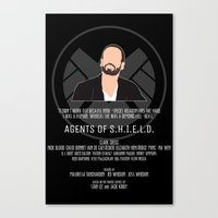 agents of shield Canvas Prints featuring Agents of S.H.I.E.L.D. - Hunter by MacGuffin Designs