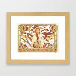 Water Nouveau Framed Art Print