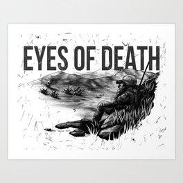 Eyes of Death Scene Art Print