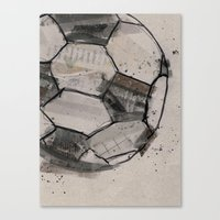 soccer Canvas Prints featuring soccer by hello kaja