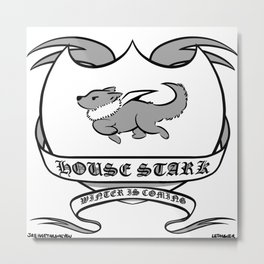 Wolf Shield Metal Print