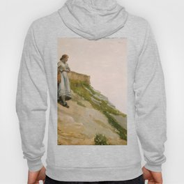 Girl Carrying A Basket 1882 By WinslowHomer   Reproduction Hoody