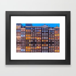 Amsterdam Houses Framed Art Print