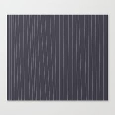 Grey and White stripe Canvas Print
