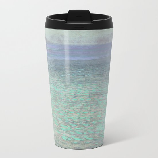 Klimt at Attersee Metal Travel Mug