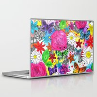 florence Laptop & iPad Skins featuring Florence  by sarah illustration