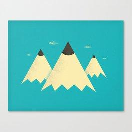 Pencil Mountains Canvas Print