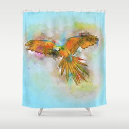 High as a Macaw Shower Curtain