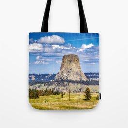 The Devils Tower Landscape Tote Bag
