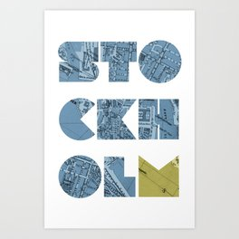 STOCKHOLM (Blok Series) Art Print