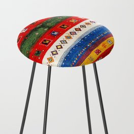 N35 - Bohemain Colored Moroccan Traditional Andalusian Artwork. Counter Stool