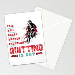 Never Quitting Motocross Dirt Bike Stationery Cards