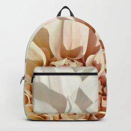 Dahlia white macro 043 Backpack