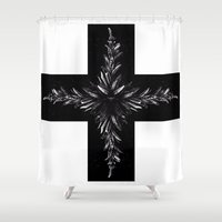 cross Shower Curtains featuring cross by Кaterina Кalinich