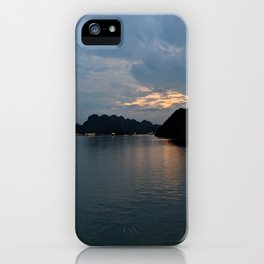 Relaxing sunset in Halong Bay, Vietnam iPhone Case