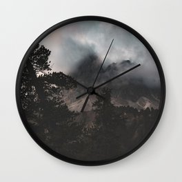 View of The Peitlerkofel Italy Wall Clock