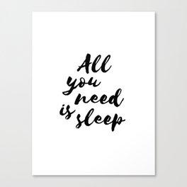 All you need is sleep... Canvas Print