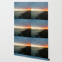 sunset over kaikoura mountains cloud carpet colors Wallpaper