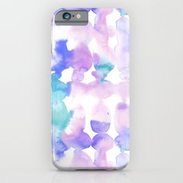 Dye Ovals Pink Turquoise iPhone Case