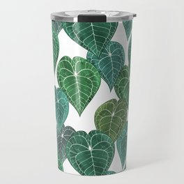 Anthurium clarinervium leaves Travel Mug