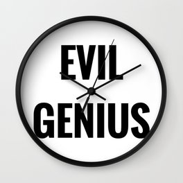 Evil Genius Wall Clock