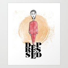 Depressed Art Print