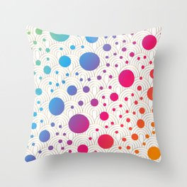 Abstract colorful background with cirlces Throw Pillow