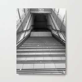 Mind The Step Metal Print