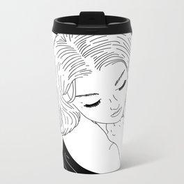 Girl in Circle with Sheet Metal Travel Mug