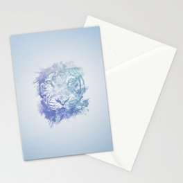 Abstract Watercolor Tiger Portrait / Face Stationery Cards