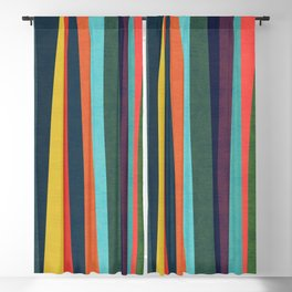 Mid-century zebra Blackout Curtain