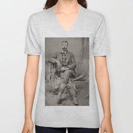 Portrait Of A Dapper Man - Vintage Photo Unisex V-Neck
