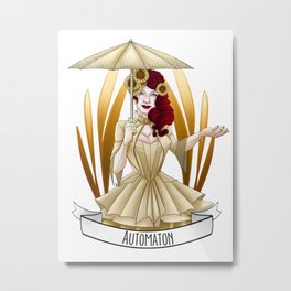 Steampunk Occupation Series: Automaton Metal Print