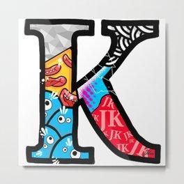 initial K Metal Print