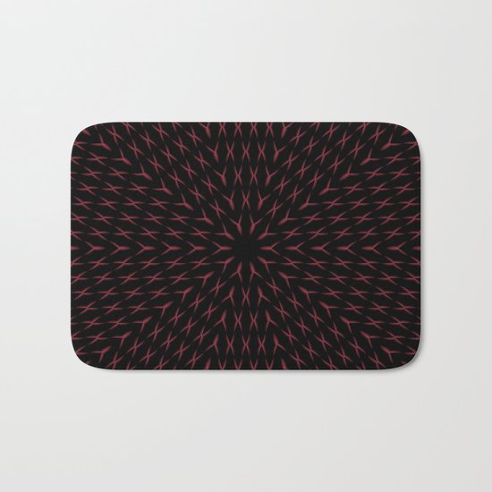 PCT2 Fractal in Red and Black Bath Mat