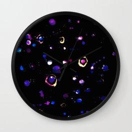 Celestial Splatter Wall Clock
