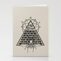 pyramid Stationery Cards featuring Pyramid by alesaenzart