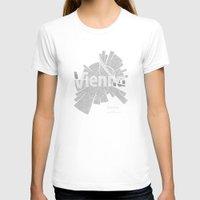 vienna T-shirts featuring Vienna Map by Shirt Urbanization