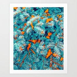 Winter Lush #illustration #nature Art Print