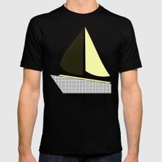 boat-full Black Mens Fitted Tee LARGE
