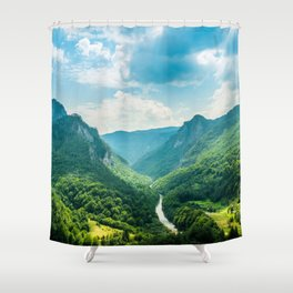 Landscape - Green Mountains  Shower Curtain