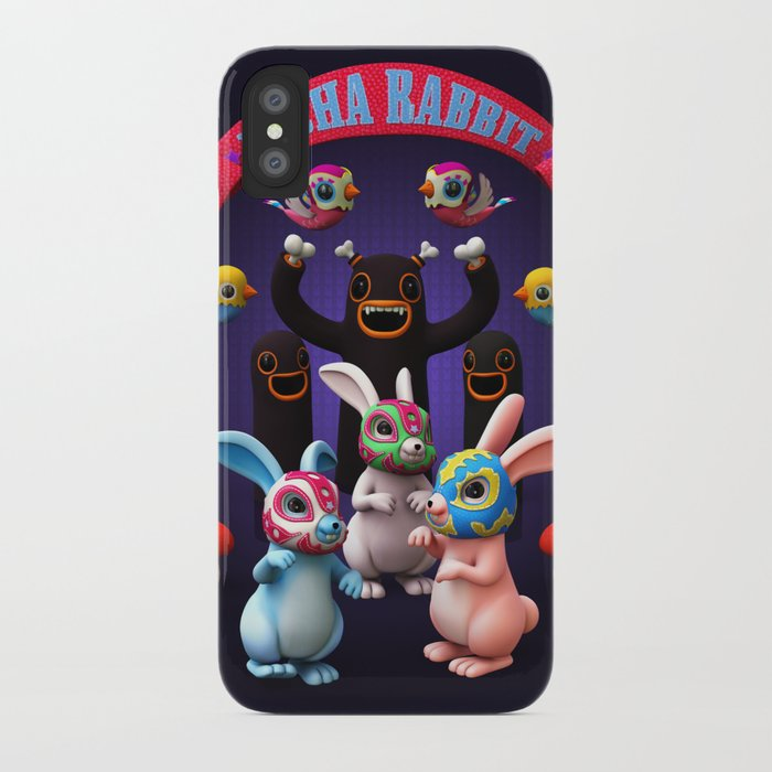 Lucha Rabbit iPhone Case