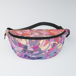 Summer Sunset Abstract - Purples and Reds Fanny Pack