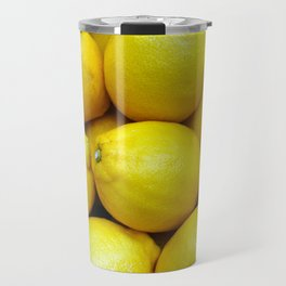 Yellow lemons Travel Mug