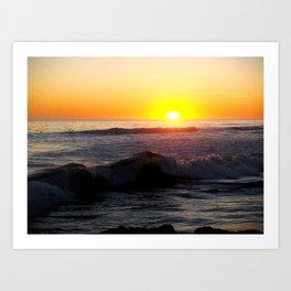 waves of glass Art Print