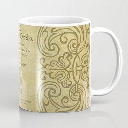 Shakespeare. Othello, 1622. Coffee Mug