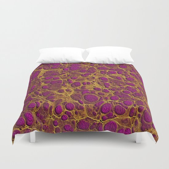 Golden Marbled 03 Duvet Cover