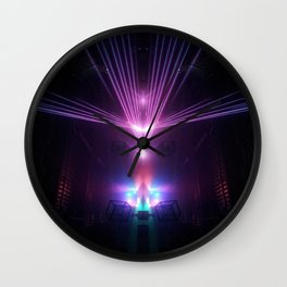 Lazer Fight  Wall Clock