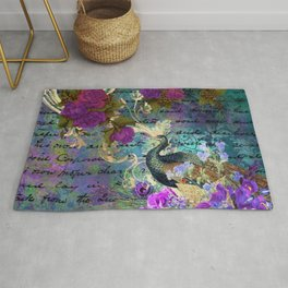 Feather peacock 22 Rug